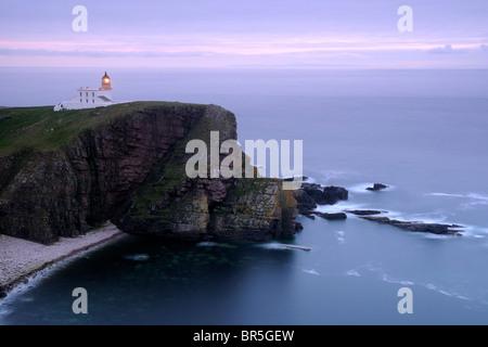Stoer Head lighthouse (near Lochinver), Sutherland, North-west Scotland - Stock Photo