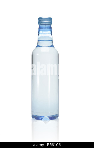 Plastic bottle of mineral water on white background - Stock Photo
