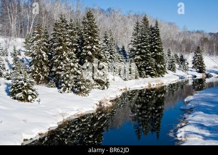 Junction Creek, near Lively, Ontario, Canada. - Stock Photo