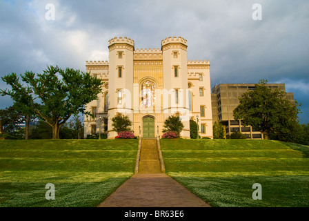 Louisiana's Old State Capitol built in 1847, now Museum of Political History, Baton Rouge, Louisiana, USA - Stock Photo