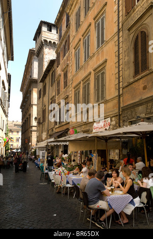 Street Cafe in Rome - Stock Photo