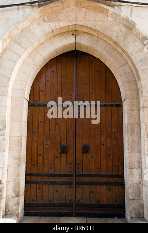 fantastically crafted old door in Jerusalem - Stock Photo