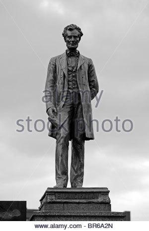 Abraham Lincoln memorial, Edinburgh Scotland - Stock Photo