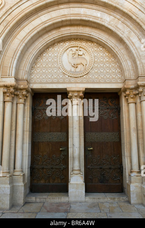 fantastically crafted old doors in Jerusalem - Stock Photo