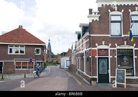 IJlst near Sneek Friesland Netherlands Bakery Bike - Stock Photo