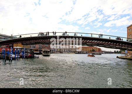 Ponte della Costituzione, new fourth Bridge over the Grand Canal in Venice, Italy, - Stock Photo