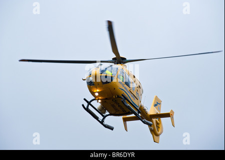 Scottish Ambulance Service Helicopter attends an incident in South Lanarkshire , Scotland - Stock Photo