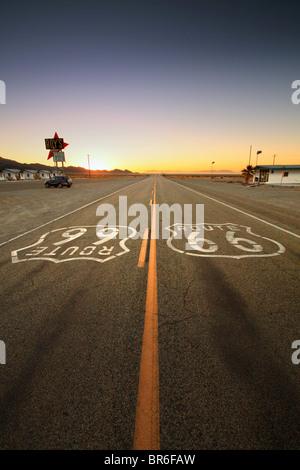 Old Route 66, California, USA - Stock Photo