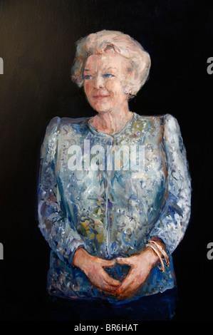 Netherlands Painting Queen Beatrix Wilhelmina Armgard  Princess of Orange Nassau Princess of Lippe Biesterfeld 31 - Stock Photo