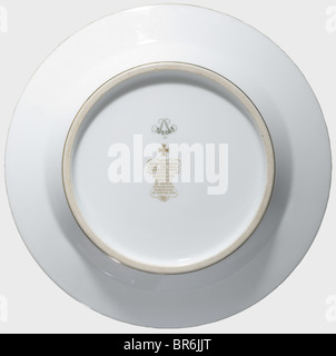 Hermann Göring - a dessert plate, from the service presented to him by the Sèvres Factory on the occasion of his - Stock Photo