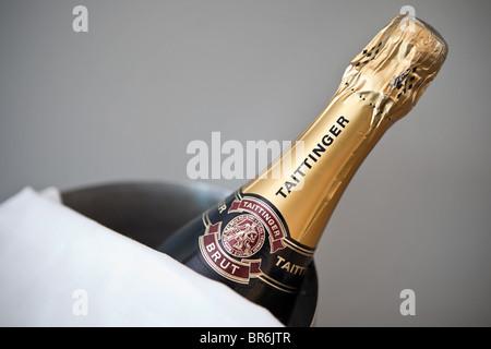 Bottle of Taittinger Brut - Stock Photo