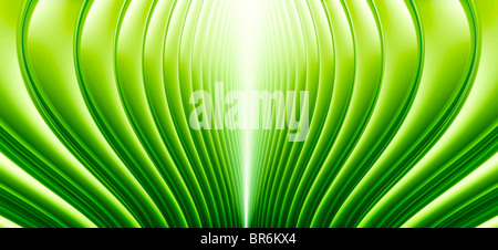 Abstract curved lines in Green - Stock Photo