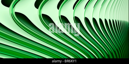 Abstract curved lines, diminishing perspective - Stock Photo