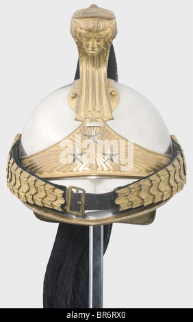 General Viktor d'Urbal (1858 - 1943) - a model 1913 helmet for cavalry officers, which he wore from his promotion - Stock Photo