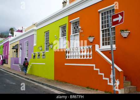 Bo-Kaap Malay Quarter, Cape Town, Western Cape, South Africa - Stock Photo