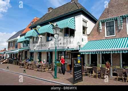 IJlst near Sneek Friesland Netherlands Restaurant bar pub cafe - Stock Photo