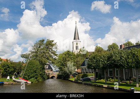 Oosthem near IJlst  Sneek Friesland Netherlands - Stock Photo