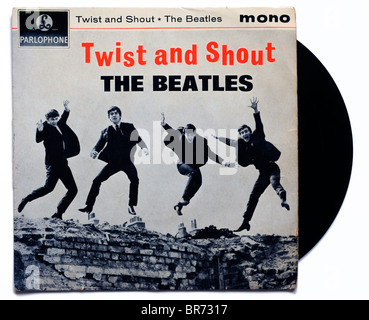 The Beatles Twist and Shout single - Stock Photo