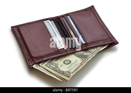 Wallet with money and credit cards - Stock Photo