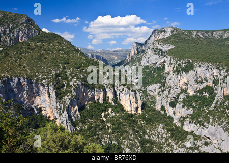 A summer's day at the Gorge Du Verdon, Provence, France - Stock Photo