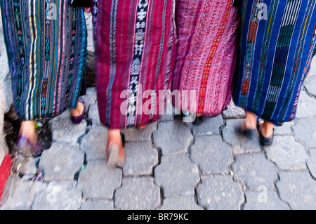 Young Mayan teenager playing on the streets of Santiago Atitlan, Solola, Guatemala. - Stock Photo