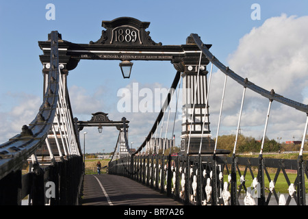 The Ferry Bridge over the River Trent, Stapenhill, Burton upon Trent, Staffordshire, England - Stock Photo