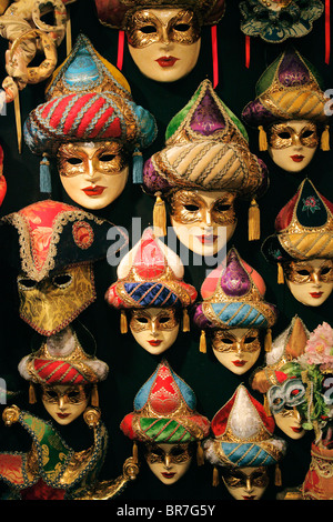 Venetian masks are a centuries-old tradition of Venice, Italy - Stock Photo