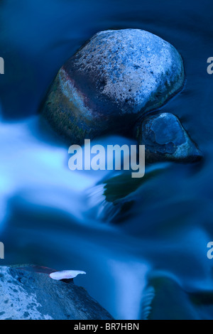 close-up of river stream in mountain river - Stock Photo