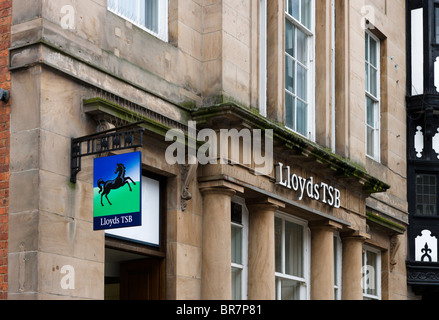 Lloyds TSB bank in Chester town centre, Cheshire, England, UK - Stock Photo
