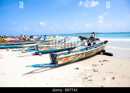 Beachlife Yoff beach Dakar Senegal West Africa - Stock Photo