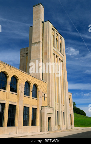 Art deco architecture of the RC Harris water treatment plant in Toronto - Stock Photo