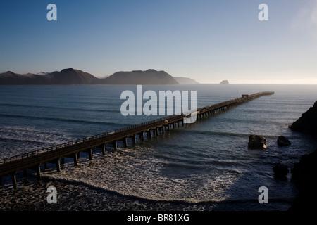 Tolaga Bay wharf on the East Cape, New Zealand. - Stock Photo