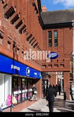 Boots pharmacy in Chester town centre, Cheshire, England, UK - Stock Photo