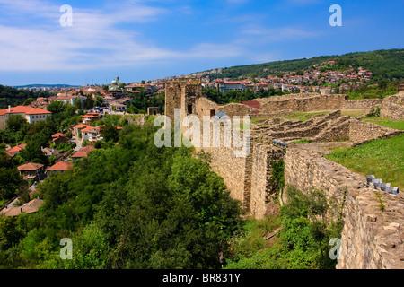 Veliko Tarnovo seen from Tsarevets fortress, Bulgaria - Stock Photo