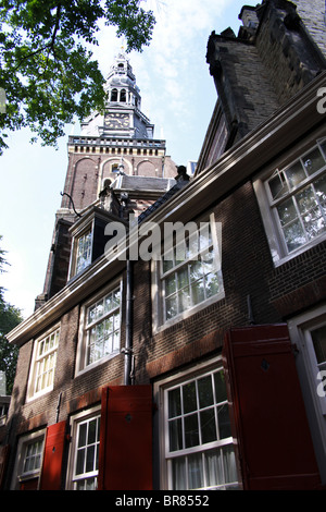 Oude Kirk (Old Church) Amsterdam, Holland, The Netherlands - Stock Photo