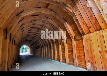 Oneonta Tunnel. Historic Columbia River Highway. Restored 2009 - Stock Photo