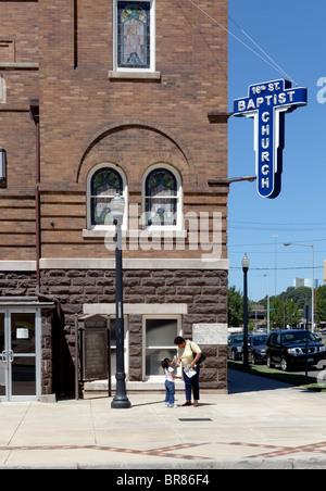 16th Street Baptist Church in Birmingham, Alabama - Stock Photo