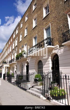 Lower Belgrave Street, Belgravia, City of Westminster, Greater London, England, United Kingdom - Stock Photo