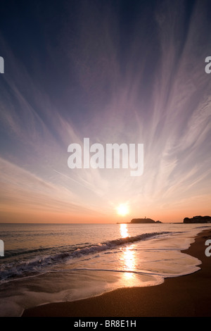 Enoshima Island at dusk - Stock Photo