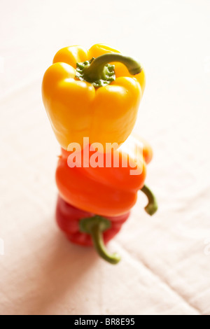 Stack of paprika - Stock Photo