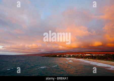 Sunset Sky Over the Beach, Hawaii, USA - Stock Photo