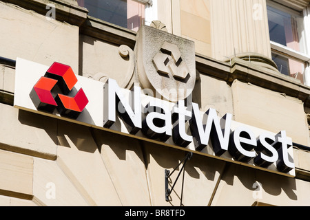 NatWest Bank in Chester town centre, Cheshire, England, UK - Stock Photo