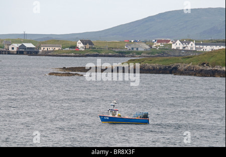 The West coast Ferry Port of Lochboisdale on South Uist in the Outer Hebrides, Highlands, Scotland.  SCO 6617 - Stock Photo