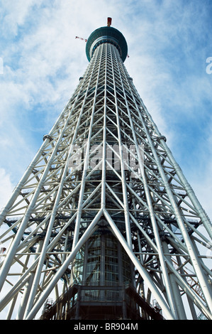 Tokyo Sky Tree under construction. This will be the tallest structure in Japan when complete in 2012 - Stock Photo