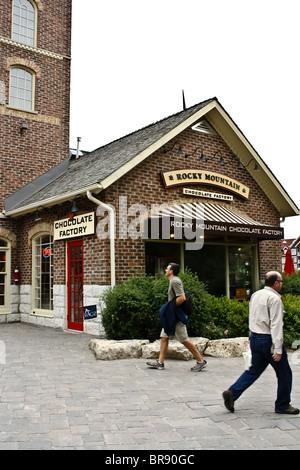 rocky mountain chocolate factory store - Stock Photo