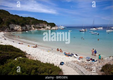 Voutoumi Beach, Antipaxos, Greece - Stock Photo