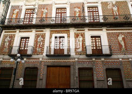 House spanish architecture puebla mexico stock photo for Casa mansion puebla