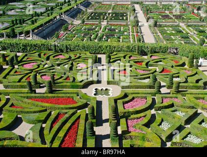 Gardens of the Chateau de Villandry, France Stock Photo: 68948604 ...