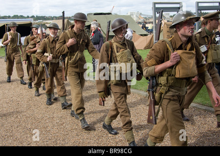 salute to the 1940's featuring reenactments of civilian life in the second world war and the rescue of the army - Stock Photo
