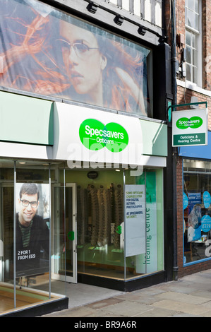Specsavers optician in Chester town centre, Cheshire, England, UK - Stock Photo